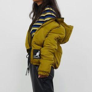 Kangol Green Puffer Jacket S
